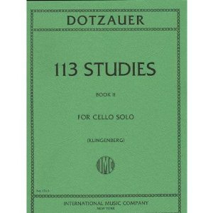 Dotzauer, J. Friedrich - 113 Studies for Solo Cello, Volume 2 Nos. 35-62 - by Johannes Klingenberg